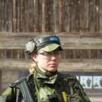 Rekryt Emelie Persson under det första skjutpasset. Foto: K Swaan