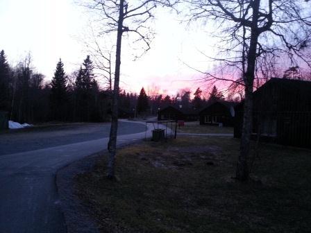 Solnedgång på Väddö Foto Persson