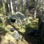 Tältförläggning Foto Persson