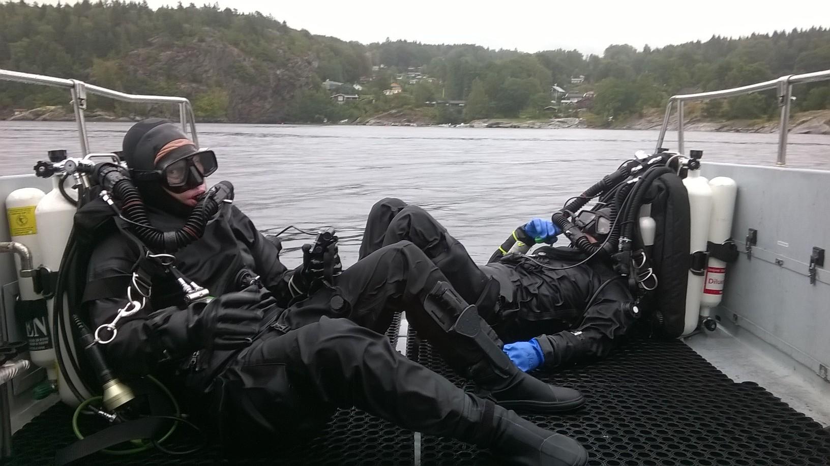 Dykare tar igen sig efter djupdyk