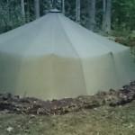 Så här ser tält 12 ut, utan maskeringsnät, Foto Desirée Dahl