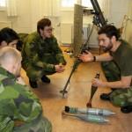 Granatkastare är ett av många vapensystem som används av amfibiebataljonen. Foto Kristina Swaan