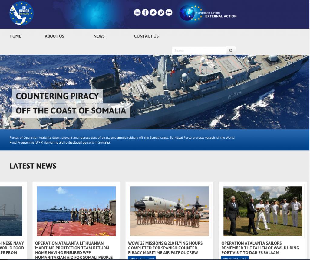 Genom en aktiv och informativ hemsida blir Atalanta en tillgänglig och synlig Operation