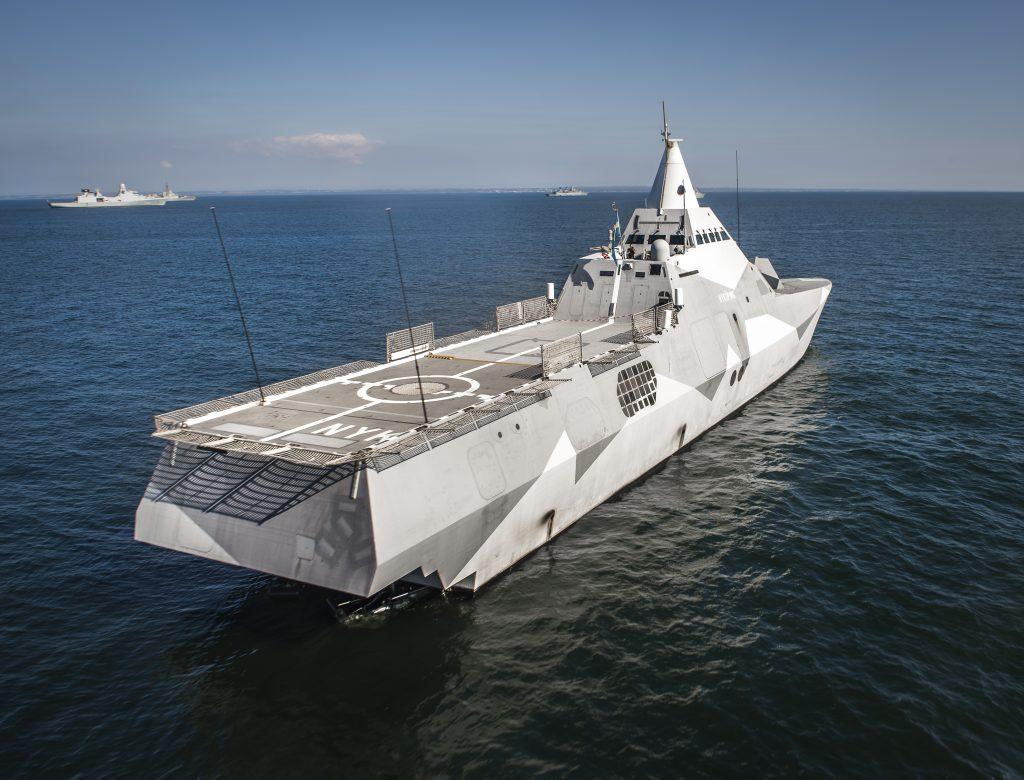 HMS Nyköping, ett av de svenska fartygen i övningen.