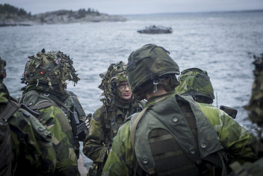 Amfibiebataljonen har uppgifter som spaning, bevakning och inte minst - amfibiestrid.<br /> Foto: Joel Thungren/Combat Camera/Försvarsmakten