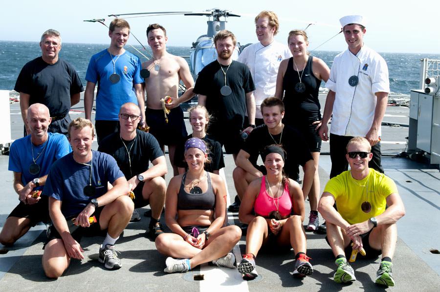 Nöjda deltagare efter prisutdelningen. Foto Anders Kallin/Försvarsmakten