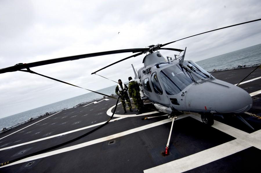 Den sjöoperativa versionen av Helikopter 15 är bland annat utrustad med luftkonditionering. Foto: Mattias Nurmela/Försvarsmakten