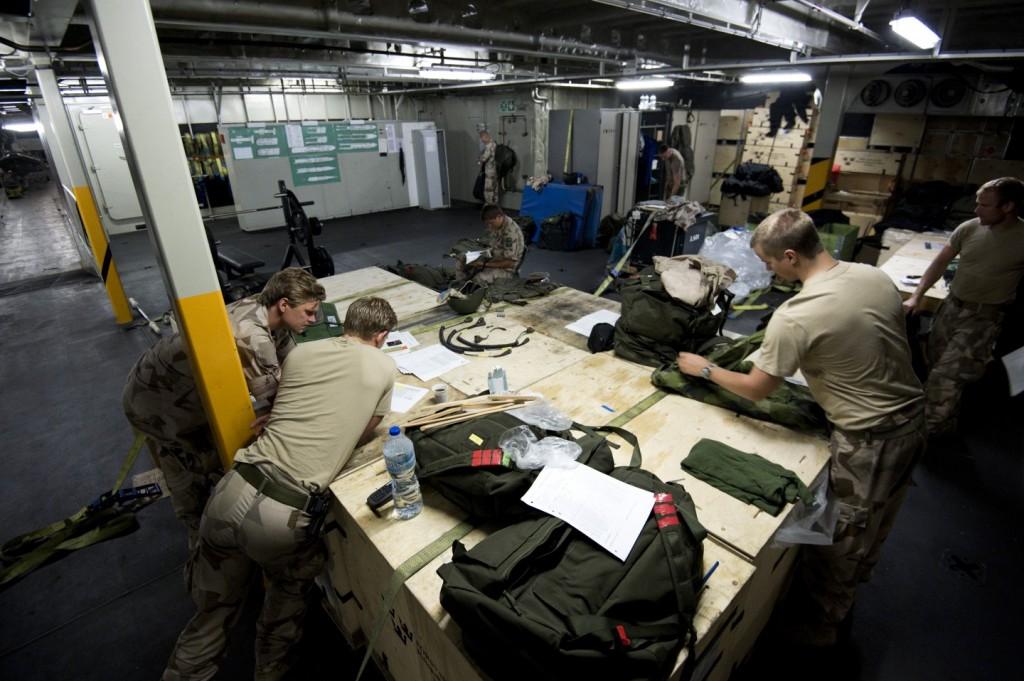 ME 04 är operativt in i det sista och därför har förbandet gjort en listig plan tillsammans med avrustningsstyrkan. Foto: Mattias Nurmela/Combat Camera/Försvarsmakten